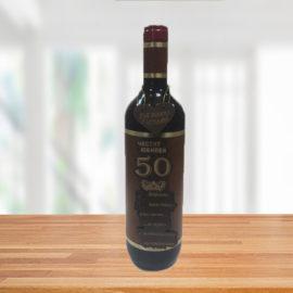 """Бутилка вино ''Юбилей-50г."""" , склад за сувенири и подаръци, сувенири на едро, вносител, китайски сувенири на едро, дървени сувенири на едро, онлайн"""