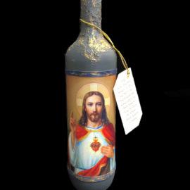 Бутилка вино с икона на Исус Христос, сувенири на едро online, традиционни булгарски сувенири на едро, китайски сувенири на едро, софия, пловдив, бургас