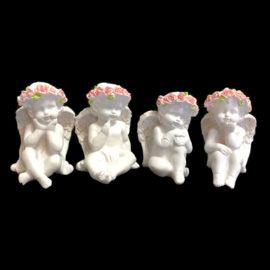 Ангелче к-т 4 бр. , сувенири на едро, китайски сувенири на едро, склад на едро, вносител на сувенири, софия, пловдив, варна, бургас, цени на едро, подаръци