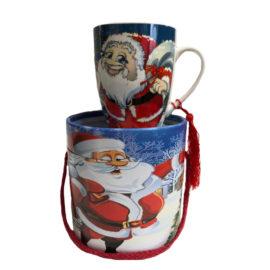 Коледна чаша в луксозна кутия, китайски сувенири на едро, вносител , футболни сувенири, сувенири на едро, suveniri, online, suveniri na edro, склад за сувенири