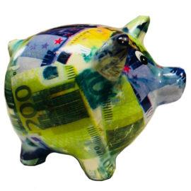 Касичка прасенце - евро , китайски сувенири на едро от вносител, склад за китайски и български сувенири на едро, онлайн, ниски цени, сувенири на едро, детски касички за пари