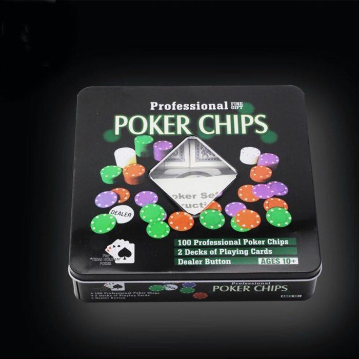 Покер комплект с 100 чипа, 2 тестета карти3