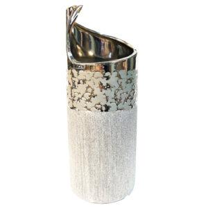 Порцеланова сребърна ваза