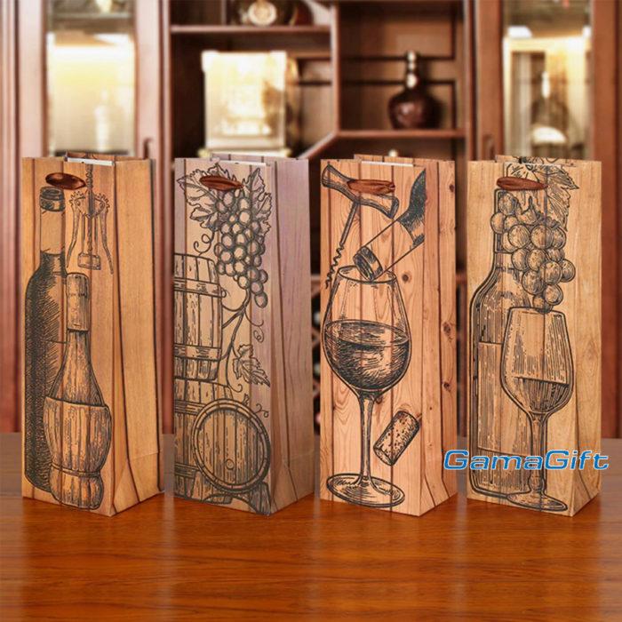 Подаръчни торбички за бутилка (вино) за продажба на едро