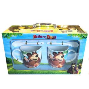 Детски комплект за чай- Маша и мечока